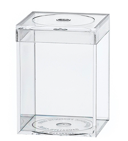 754C Flat Top Box, Crystal