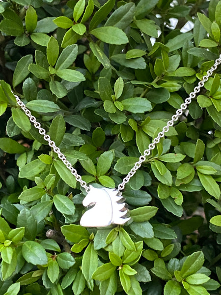 NEW! 10 Year Anniversary Sterling Silver Horse Head Charm Necklace