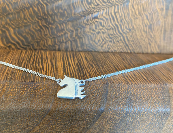 NEW! 10 Year Anniversary Sterling Silver Horse Head Charm Ankle Bracelet