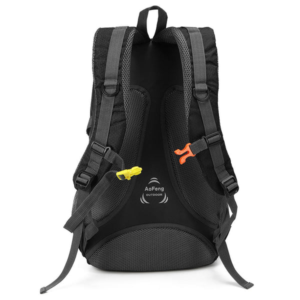 Xtreme ZD-DW10 40L Waterproof Nylon Backpack Sports Travel Hiking Climbing Unisex Rucksack   - Black - GadgetSourceUSA