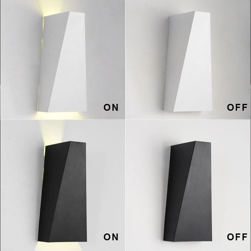 10W Mordern Led Wall Light Dual Head Geometry Wall Lamp Sconces for Hall Bedroom corridor lamp restroom bathroom reading lamp|lamp keychain|lamp rgb|lamp white - GadgetSourceUSA
