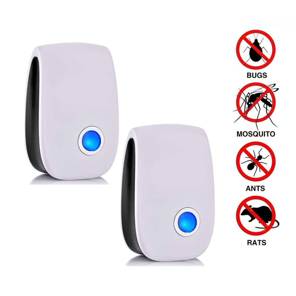 Ultrasonic Pest Repellent | 2 Pack |  Electronic Repellent |  Mosquito/Insect Pest Control - GadgetSourceUSA