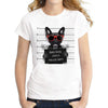 Hot Sale Dog Police Dept Design Women T Shirt French Bulldog T-shirt Novelty Short Sleeve Tee Pug Printed Bad Dog Shirts