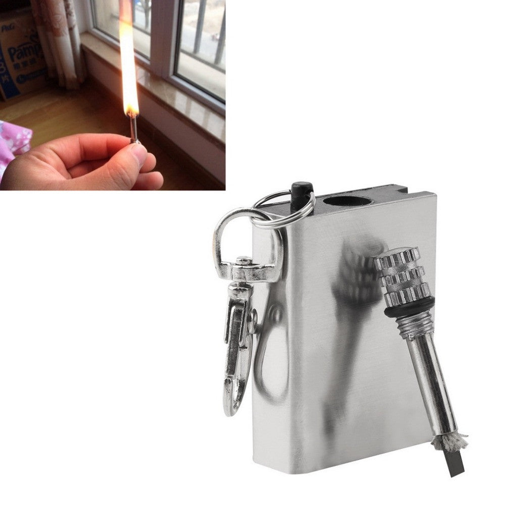 2pc Emergency Fire Starter Flint Match Lighter Metal Outdoor Camping Hiking Instant Survival Tool Safety Durable hot