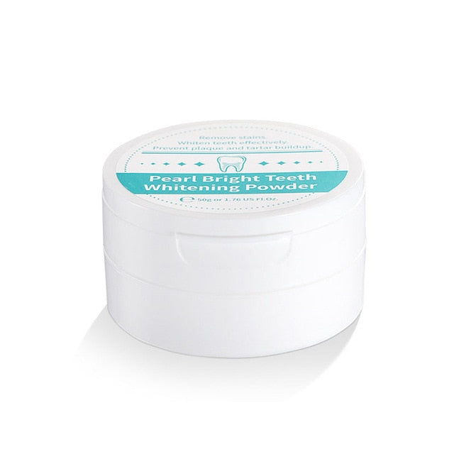 Teeth Whitening | 50g Natural Pearl Whitening Tooth Powder | Mint | Bright Teeth Whitening | Stain Removal | Oral Hygiene Anti-Bacterial - GadgetSourceUSA