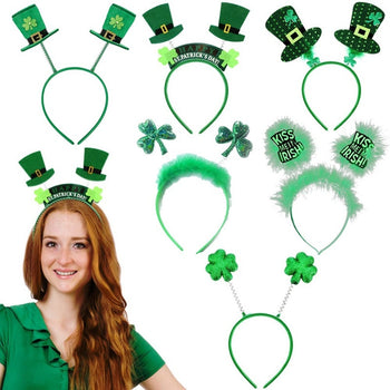 8PCS/SET 2020 New St. Patrick\'s Set Irish St Patricks Day headband green hair  beautiful festival party decor - GadgetSourceUSA