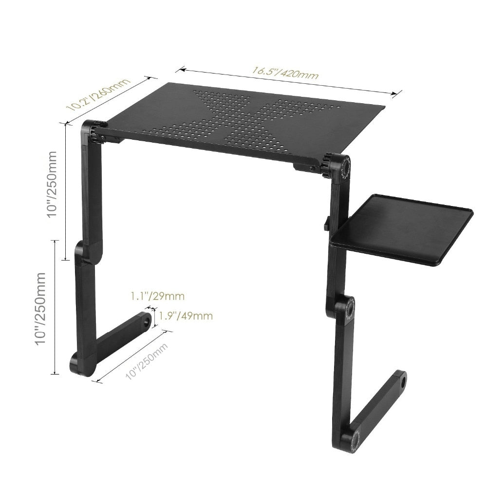 Lap Desk | Ergonomic Adjustable Portable Workstation | Adjustable Lap Desk With Mouse Pad for Laptops/Notebooks | Portable Laptop Desks - GadgetSourceUSA