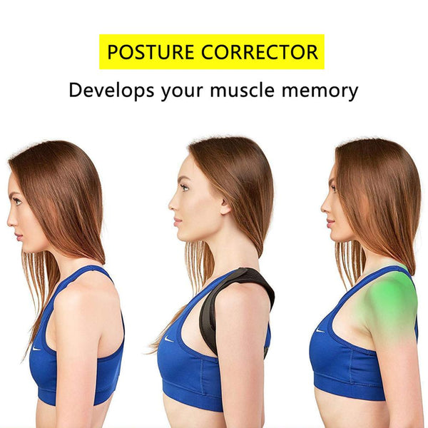 Posture Corrector Back Brace | Adjustable Brace Support | Clavicle, Spine, Back, Shoulder, Lumbar Posture Correction - GadgetSourceUSA