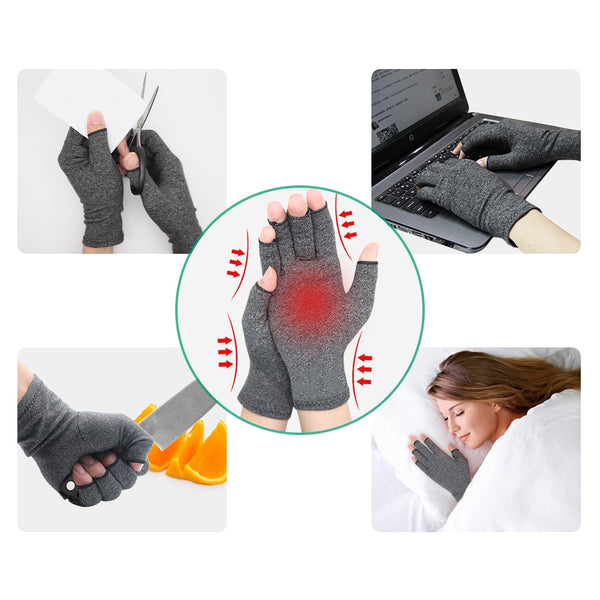 Arthritis Compression Gloves | Compression Hand Glove For Arthritis Pain, Muscle Tension, Joint and Carpal Tunnel Relief | Wrist Support - GadgetSourceUSA