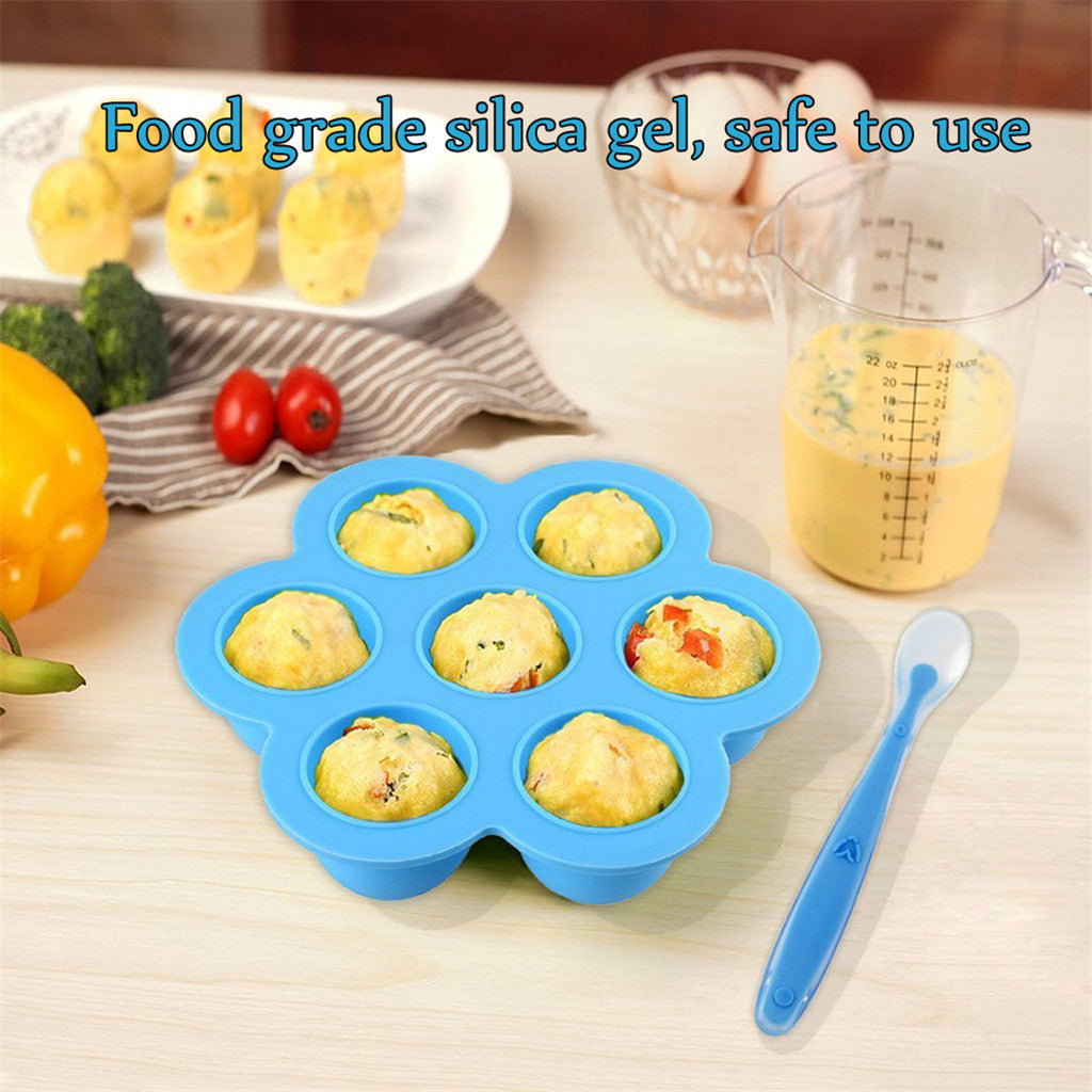 Baby Food Storage Containers Lid Reusable Mold Freezer Tray Non Stick Registry Storage Trays - GadgetSourceUSA