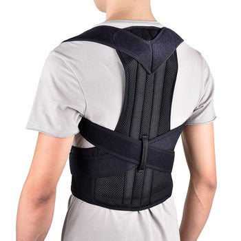 Back Brace | Posture Corrector | Adjustable Back, Shoulder, Lumbar, Spine Back Support - GadgetSourceUSA
