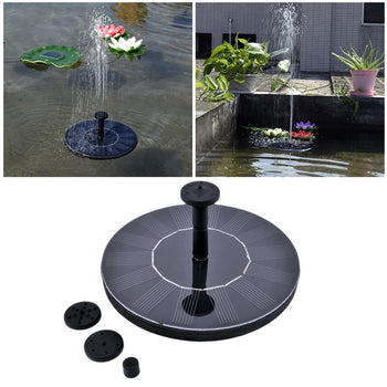 Solar Bird Bath Fountain | Solar Powered  Floating Water Pump | 3 Sprinkler Heads | Fountains & Bird Baths - GadgetSourceUSA