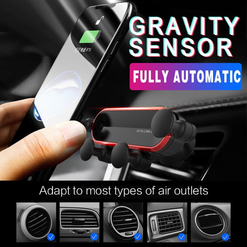 Cell Phone Holder - Car Vent Mount | Non Magnetic Holder | Mobile Holder for Cell Phone - GadgetSourceUSA