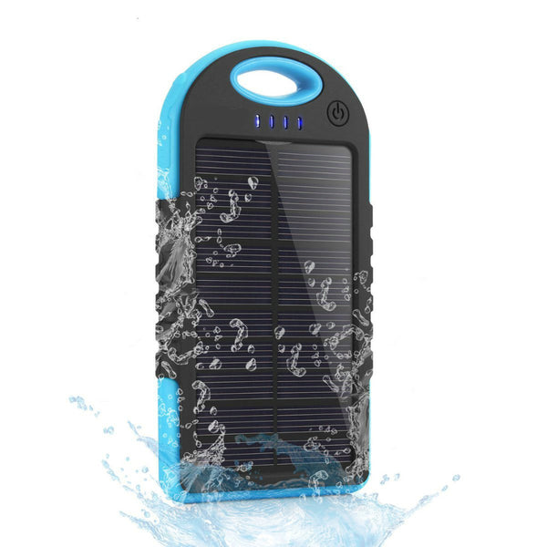Dual USB  Waterproof Solar Power Bank Portable  Outdoor Travel Enterntery Powerbank for iPhone or Android phone! - GadgetSourceUSA