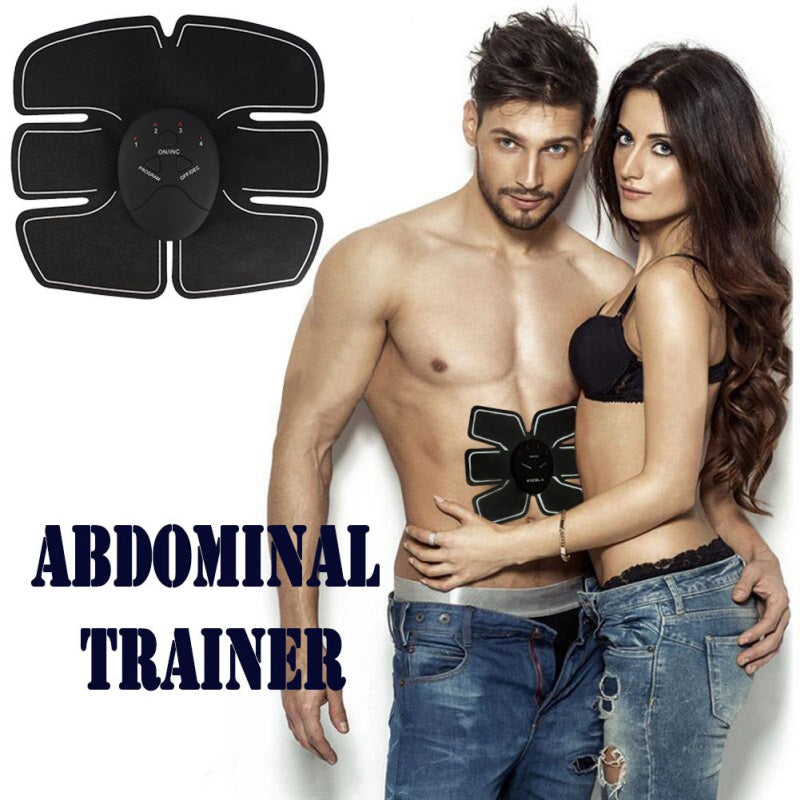 Abdominal EMS Trainer | Home Fitness | Abdomen Electromagnetic Muscle Stimulator | Firms, Tones, Strengthens and Tightens Muscles -
