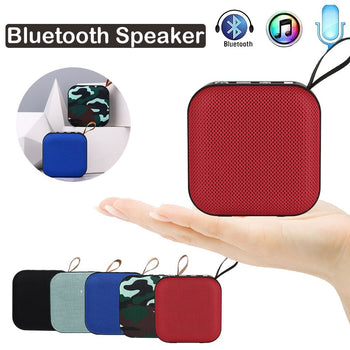 Portable Wireless Speaker | Portable Wireless Speaker with Bluetooth | Stereo Sound/ SD Card/ FM /USB | Mini Bluetooth Wireless Speaker - GadgetSourceUSA