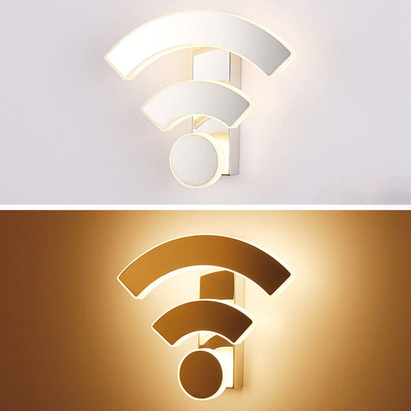 WIFI Logo Shape Acrylic Wall Light Led Indoor Wall Lamps Led Wall Sconce Lamp Lights for Bedroom Living Room Stair|LED Indoor Wall Lamps - GadgetSourceUSA