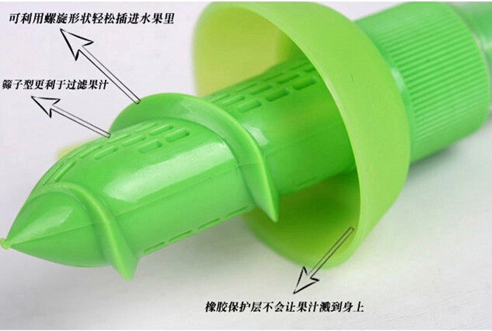 Special Sale Hand Juicer Eco-Friendly Plastic Lemon Juicer Citrus Squeezer Sprayer Great Kitchen helper Choice