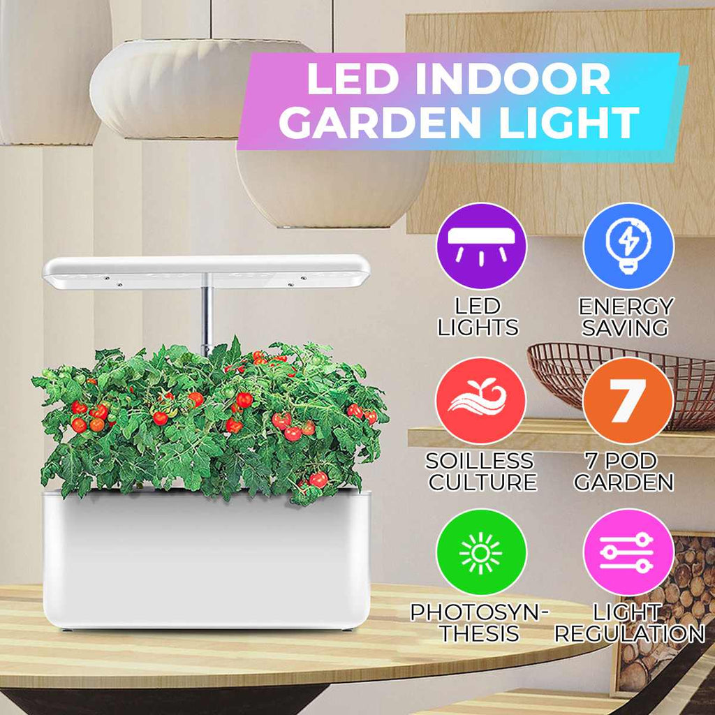 Grow Light | Hydroponics System Full Spectrum Grow Light | Soil-Less Cultivation Indoor Garden Planter - GadgetSourceUSA