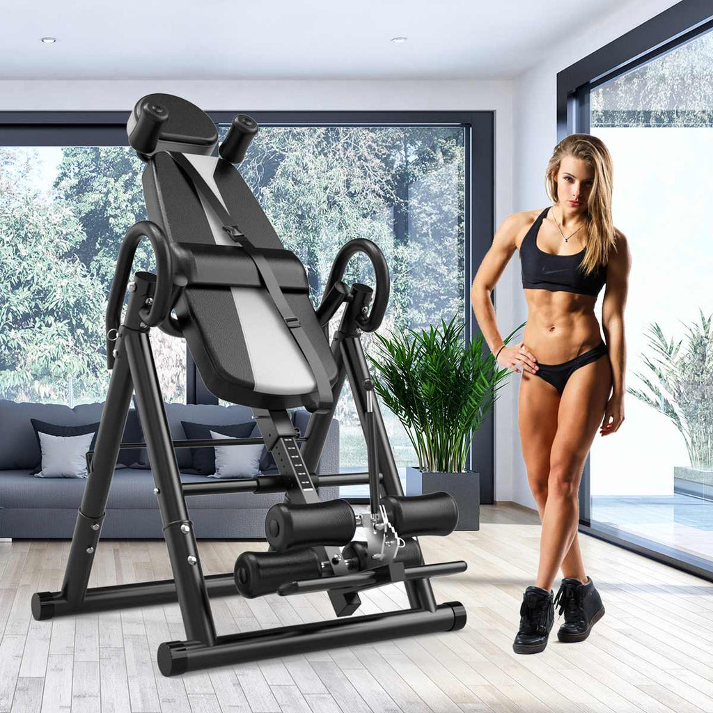 Inversion Table | Fitness/Chiropractic/Reflexology Back Stretcher Foldable Table | Home Gym Training | Inversion Therapy - GadgetSourceUSA