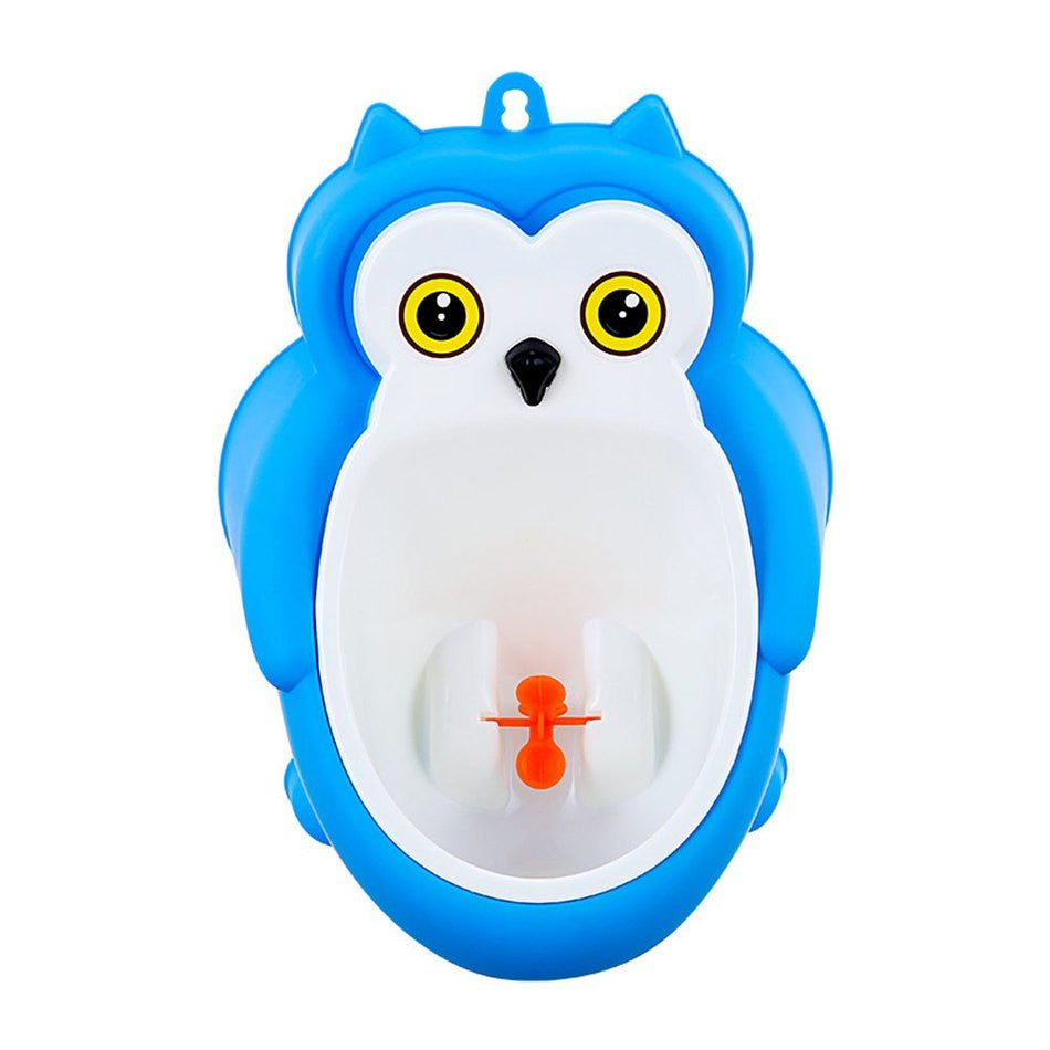 Kids Wall Hanging Children Standing Urinal Toilet Potty Trainer for Boys with Down Rotation Fan Strong Wall Suction