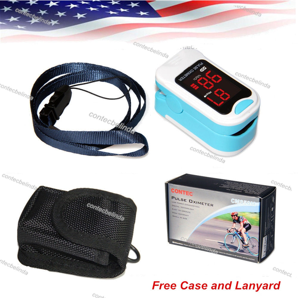 LED Fingertip Pulse Oximeter,Blood Oxygen SPO2 Monitor,Care Life,Pouch Case,Layard Free shipping Newest CMS50M|Blood Pressure - GadgetSourceUSA