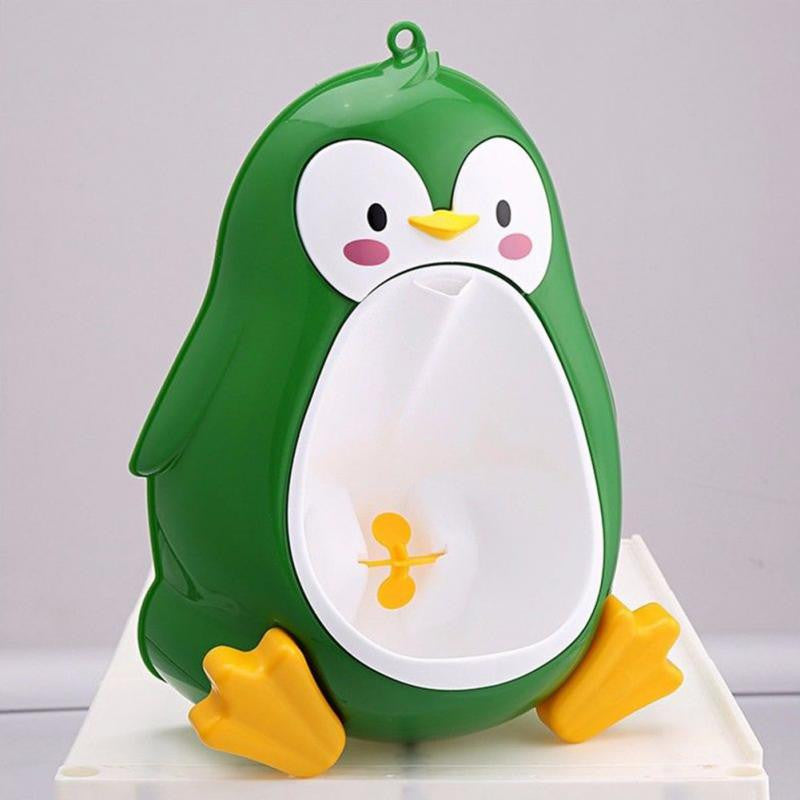 Lovely Cartoon Shape Baby Boys Penguin Stand Vertical Toilet Potty Training Kids Wall Hanging Urinal Bathroom Pee Trainer