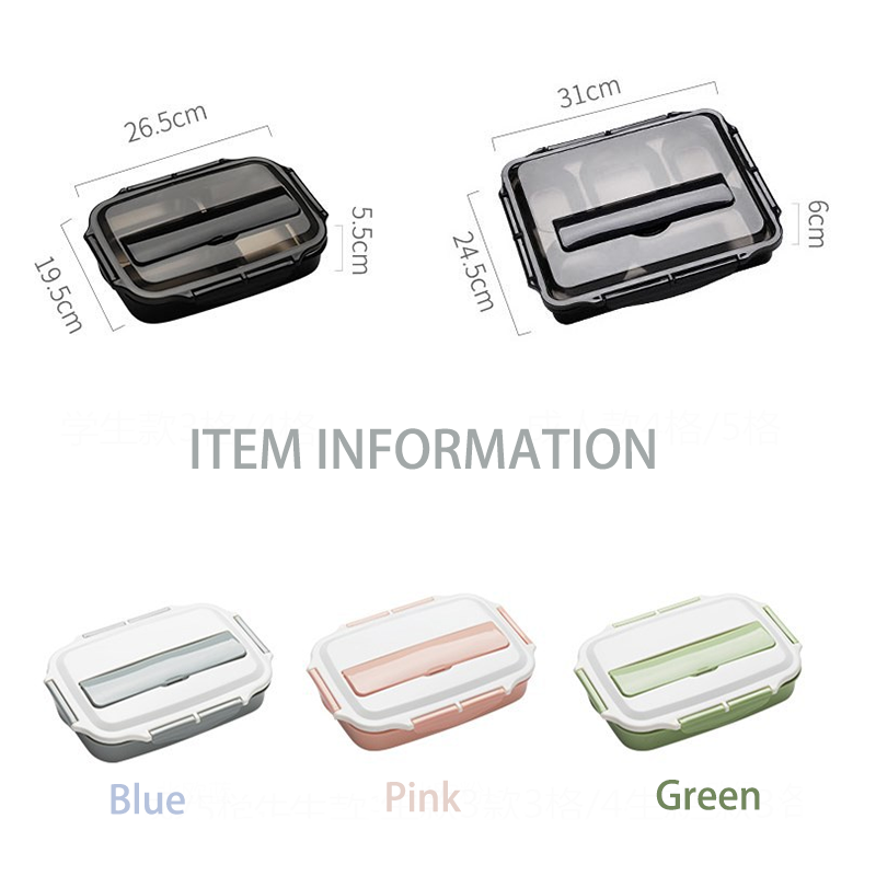 Bento Box | Stainless Steel 3 or 4 Partition | Insulated Lunch Box | Hot Portable Office Bento Box | Kitchen Leakproof Food Container | Lunch Boxes - GadgetSourceUSA
