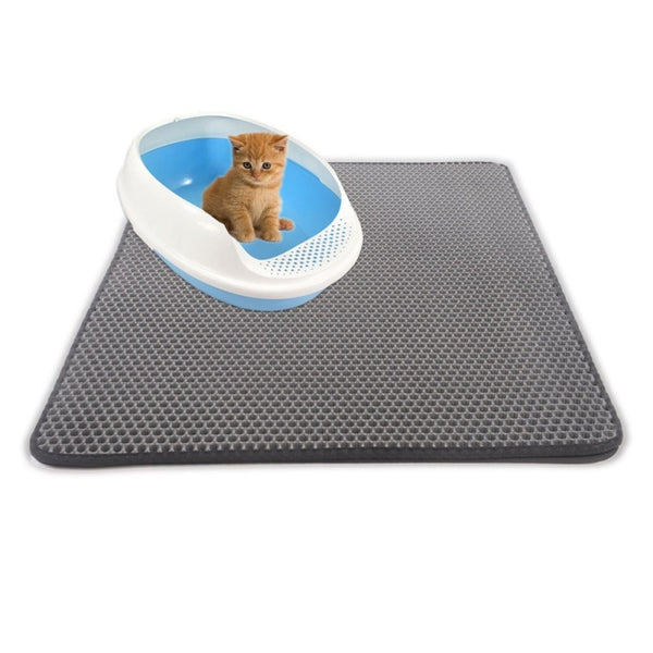 Cat Litter Mat | Waterproof Cat Mat | Easy Cleanup | Cat Beds & Mats - GadgetSourceUSA