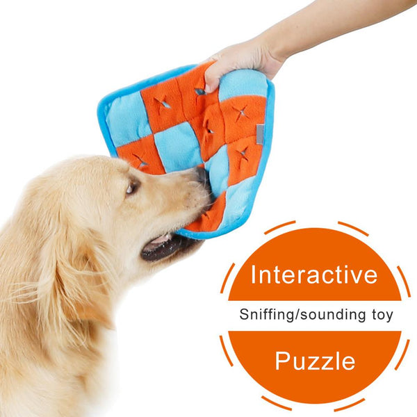 Dog Snuffle Mat | Pet Puzzle Mat | Interactive Brain Teaser, Treat Dispenser for Foraging Instinct | Pet Sniffing Training Blanket -