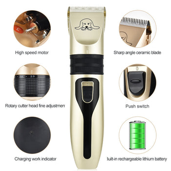 Dog Clippers | Rechargeable Pet Grooming Clippers |  Dog Grooming Kits - GadgetSourceUSA