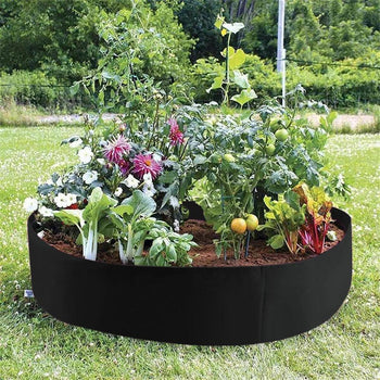 Raised Garden Bed | Round Garden Grow Bag | Garden Flower, Vegetable, Herb Planter - GadgetSourceUSA