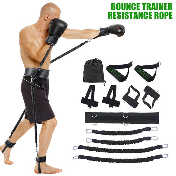Resistance Bands | Exercise Bands | Sports Fitness Set for Leg and Arm Exercises | Boxing Muay Thai Home Gym | Strength Training Equipment - GadgetSourceUSA