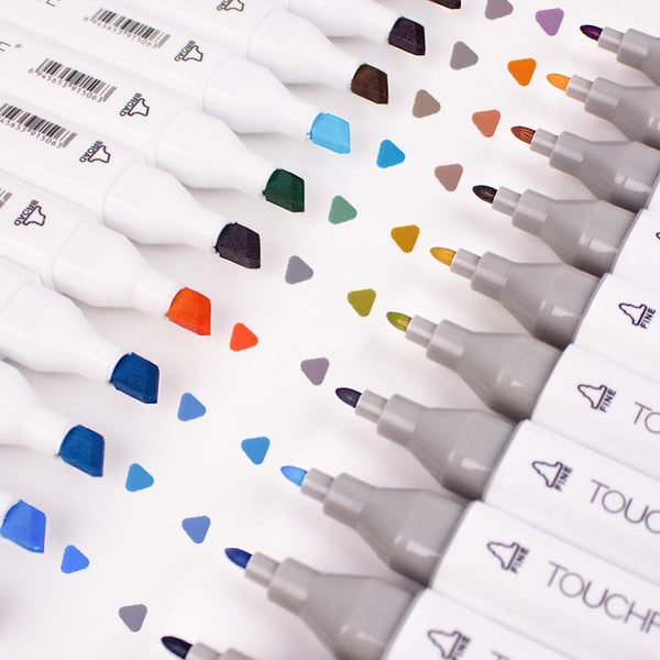 Art Marker Dual Tip Set | 60 Colors | Touchfive Graffiti Marker Pen | Sketching Markers | Broad & Fine Drawing Pen Design for School - GadgetSourceUSA