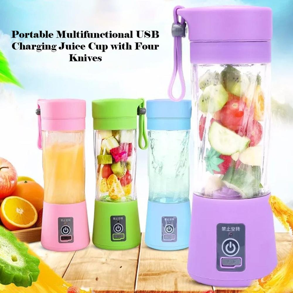 USB Rechargeable Portable Easy Blender Mini Juicer Multi Function USB Charging Juice Cup Fruit Electric Juice Mixing Cup|Manual Juicers - GadgetSourceUSA