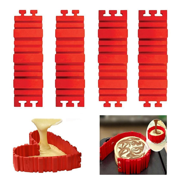 Cake Moulds | Cake Mold Silicon | DIY Square/ Flower /Heart /Round Cake Pan | Baking Moulds - GadgetSourceUSA
