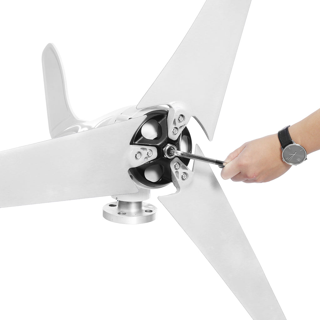 Wind Turbine Generator 3/5 Blades With Charge Controller Wind Generator - GadgetSourceUSA