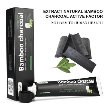 Teeth Whitening With Charcoal | 120g Natural Black Bamboo Charcoal Toothpaste | Organic Food Grade Activated Toothpaste | Teeth Oral Care - GadgetSourceUSA