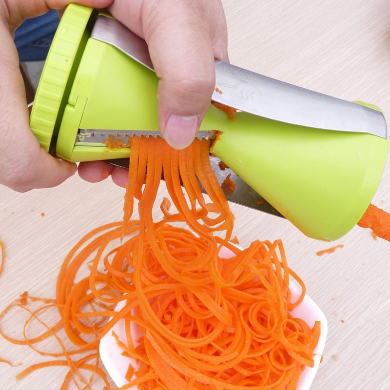 Vegetable Spiralizer | Handheld Vegetable Spiralizer Slicer | - GadgetSourceUSA