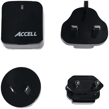 Accell D080B-023K Home or Away Dual-USB Charging Kit with International Plug Adapters - GadgetSourceUSA