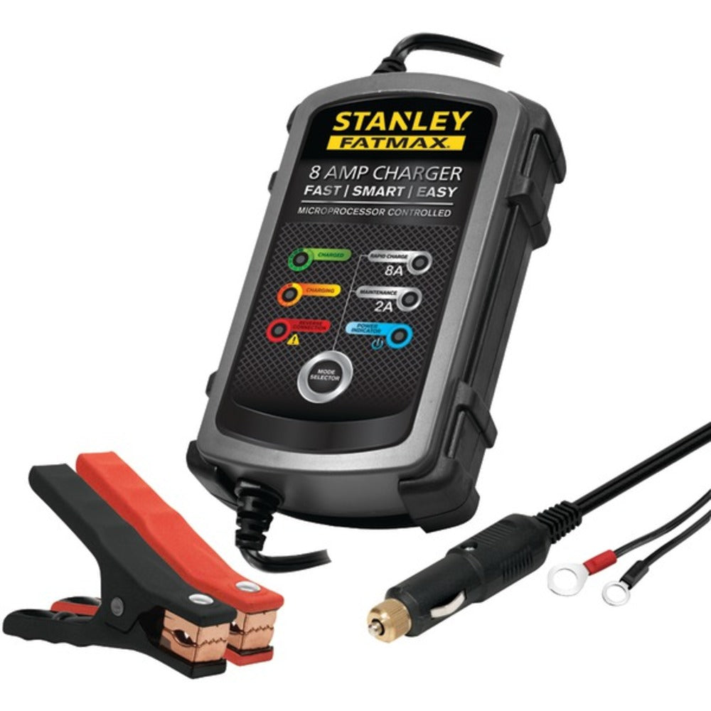 STANLEY BC8S 8-Amp FATMAX Battery Charger/Maintainer - GadgetSourceUSA