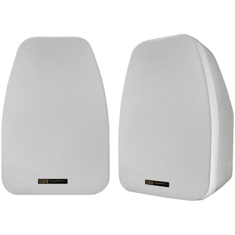 BIC America ADATTO DV52SIW 125-Watt 2-Way 5.25-Inch Indoor/Outdoor Speakers with Keyholes for Versatile Mounting (White) - GadgetSourceUSA