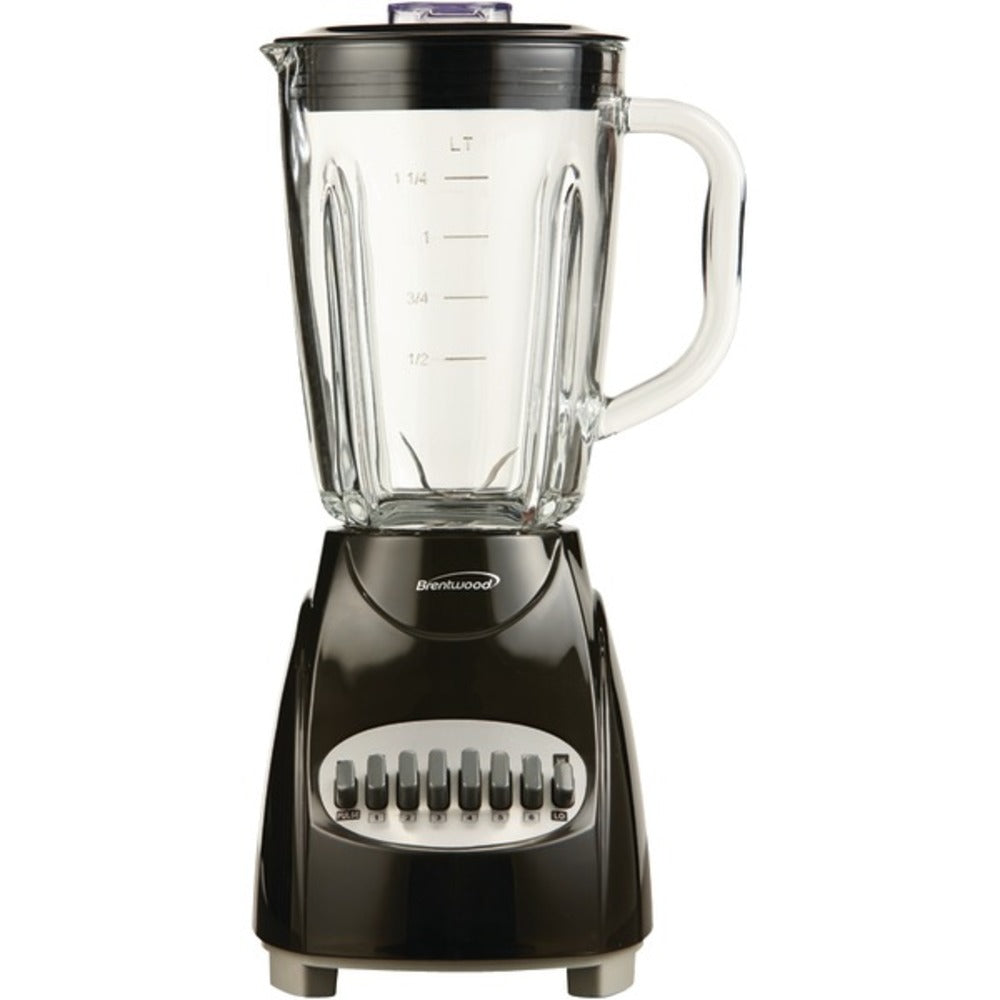 Brentwood Appliances JB-920B 42-Ounce 12-Speed + Pulse Electric Blender with Glass Jar (Black) - GadgetSourceUSA