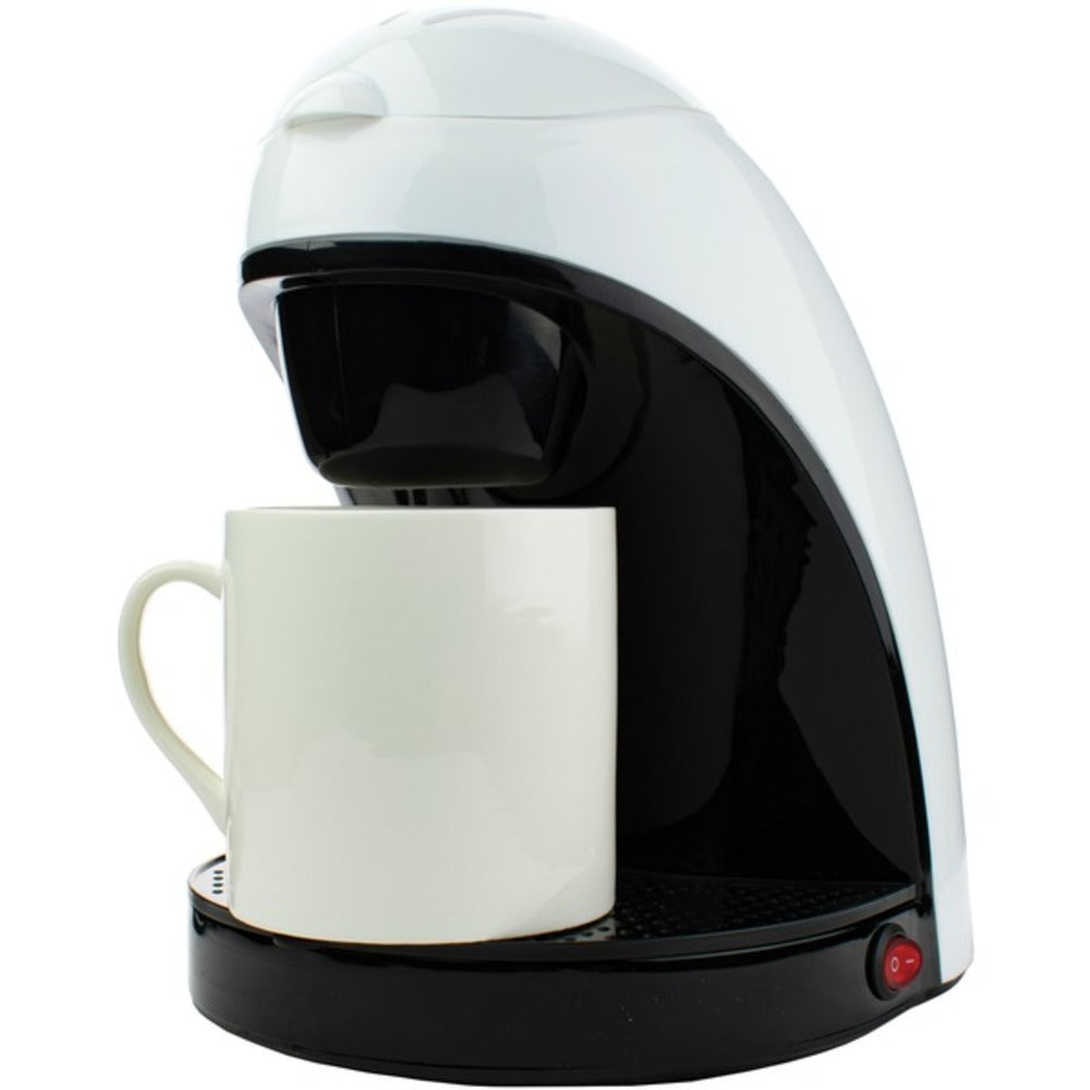 Brentwood Appliances TS-112W Single-Serve Coffee Maker with Mug (White) - GadgetSourceUSA