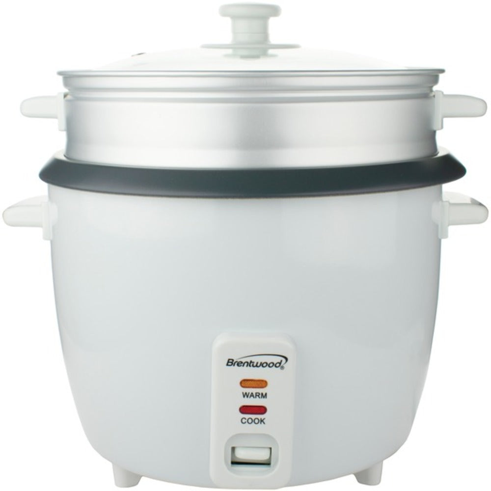 Brentwood Appliances TS-380S Rice Cooker with Steamer (10 Cups, 700 Watts) - GadgetSourceUSA