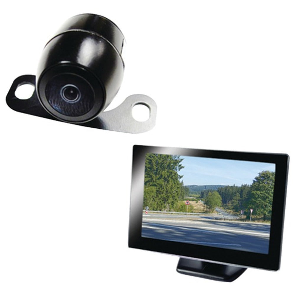 BOYO Vision VTC175M VTC175M Vehicle Backup System with 5-Inch Rearview Monitor and License-Plate Camera System