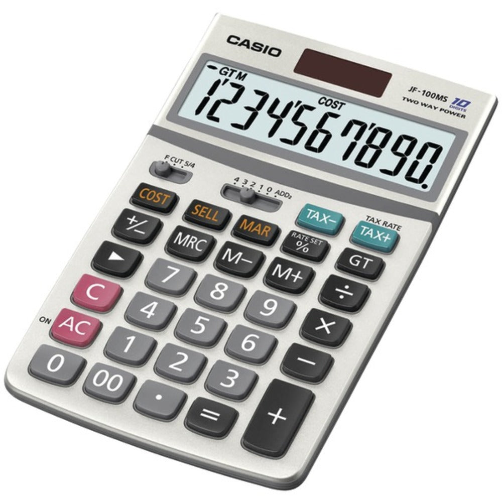 CASIO JF100MSSIH Solar Calculator - GadgetSourceUSA