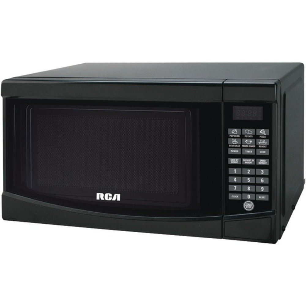 RCA RMW733-BLACK .7 Cubic-ft Microwave (Black) - GadgetSourceUSA