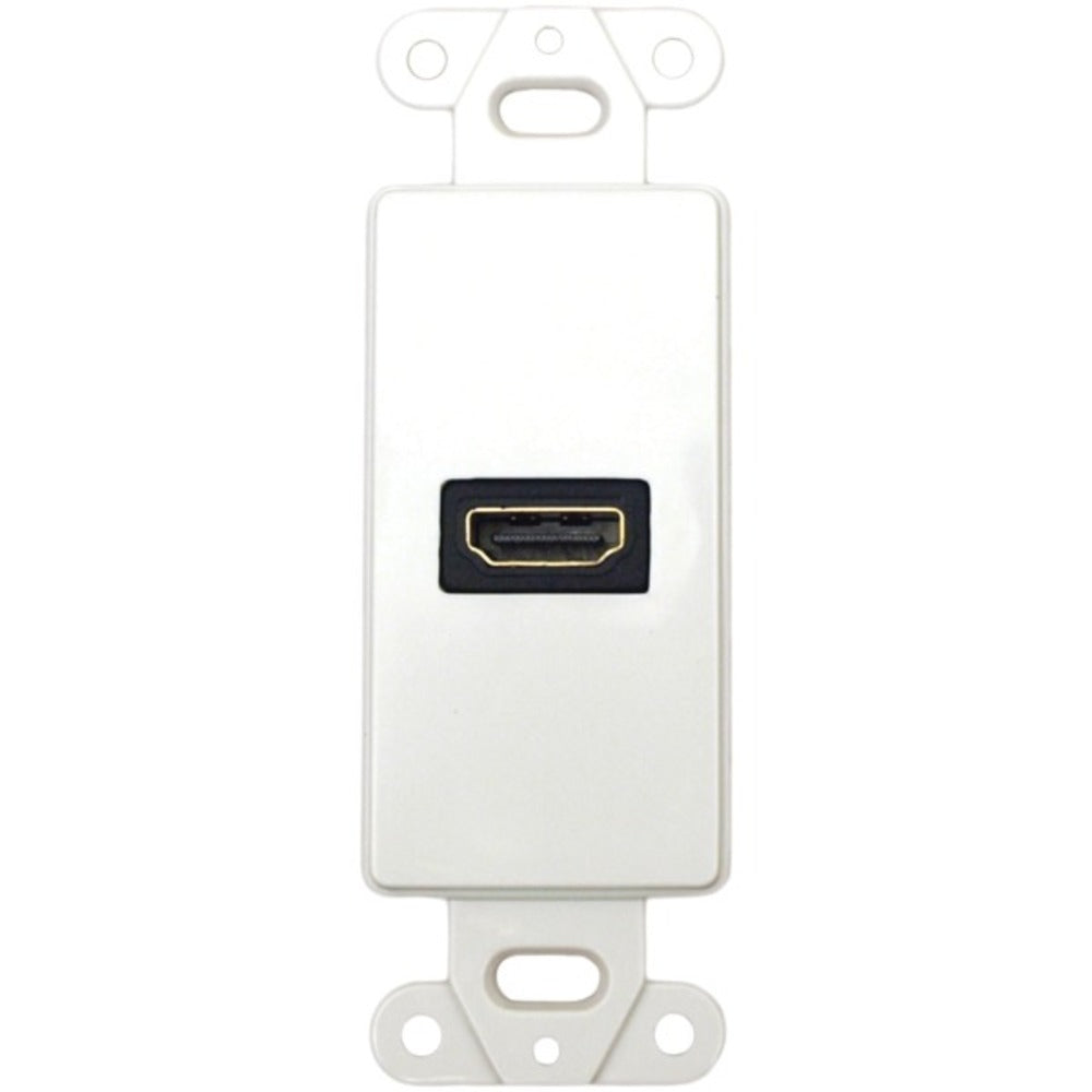 DataComm Electronics 20-4501-WH Decor Wall Plate Insert with 90deg HDMI Connector - GadgetSourceUSA