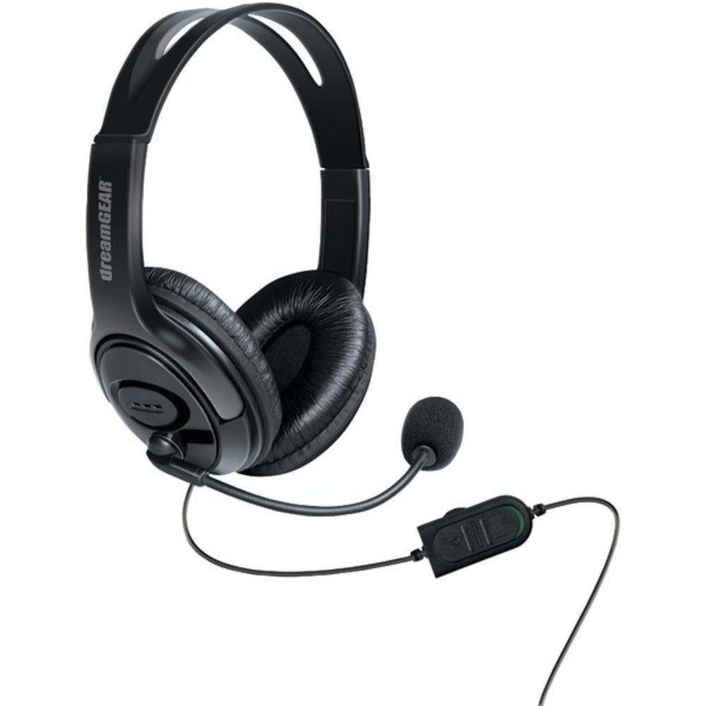dreamGEAR DGXB1-6617 Wired Headset with Microphone for Xbox One (Black) - GadgetSourceUSA